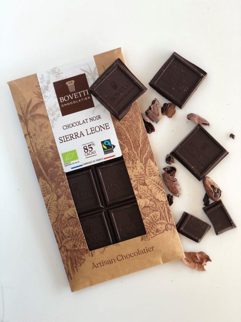 "Chocolat Noir ""Sierra Leone"" de chez Bovetti"