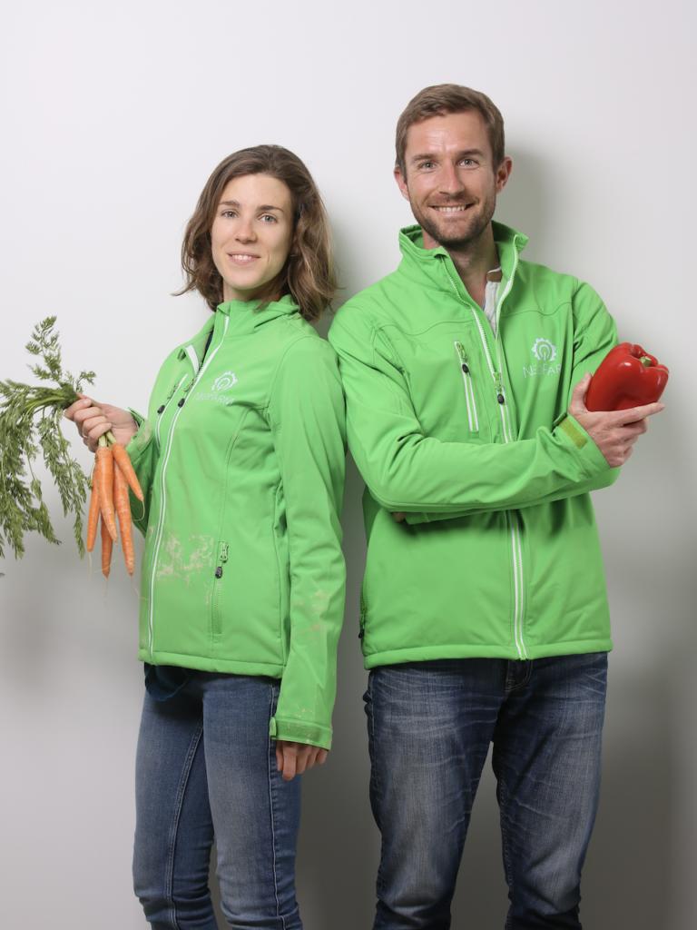 Alexia Rey et Olivier le Blainvaux, co-fondateurs de NeoFarm